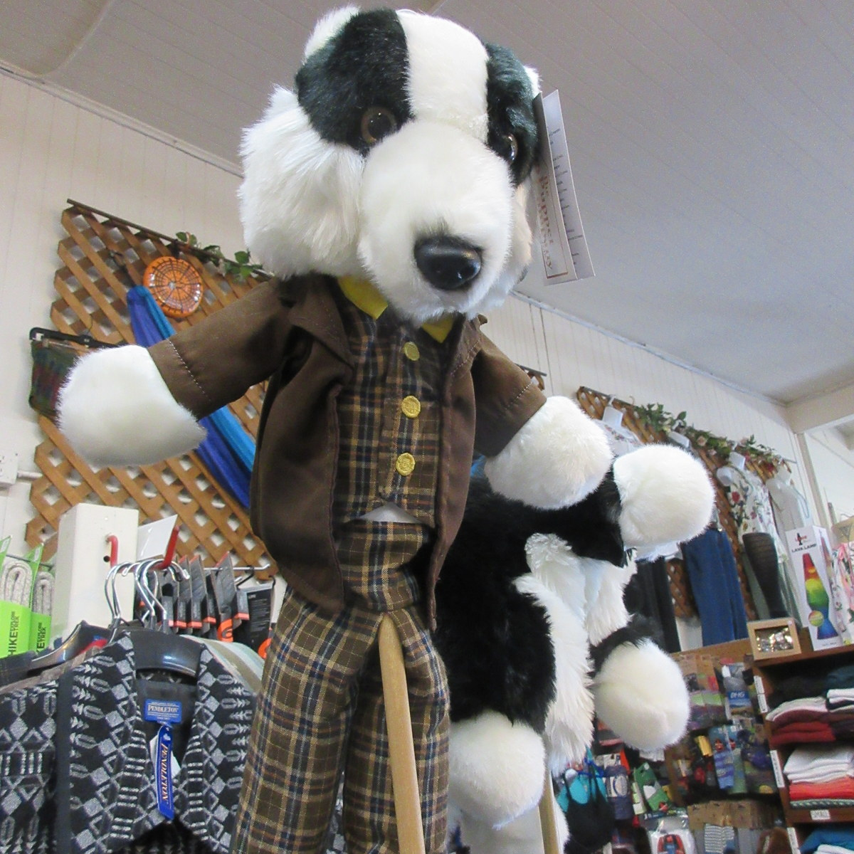Dressed Badger Puppet from the Puppet Company