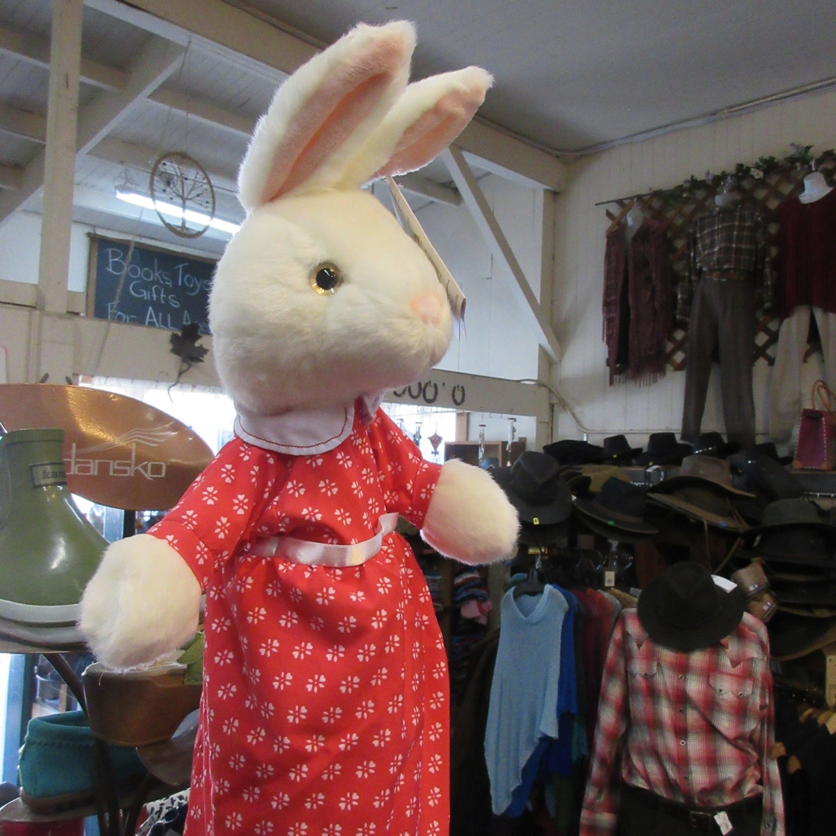 Dressed Mrs. Rabbit Puppet from The Puppet Company
