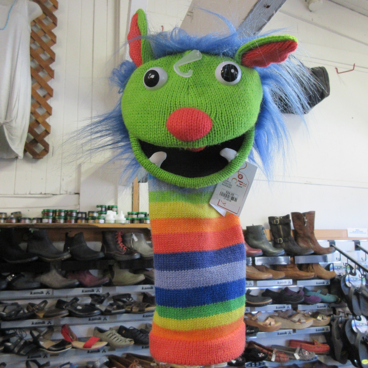 Rainbow Monster Puppet from The Puppet Company