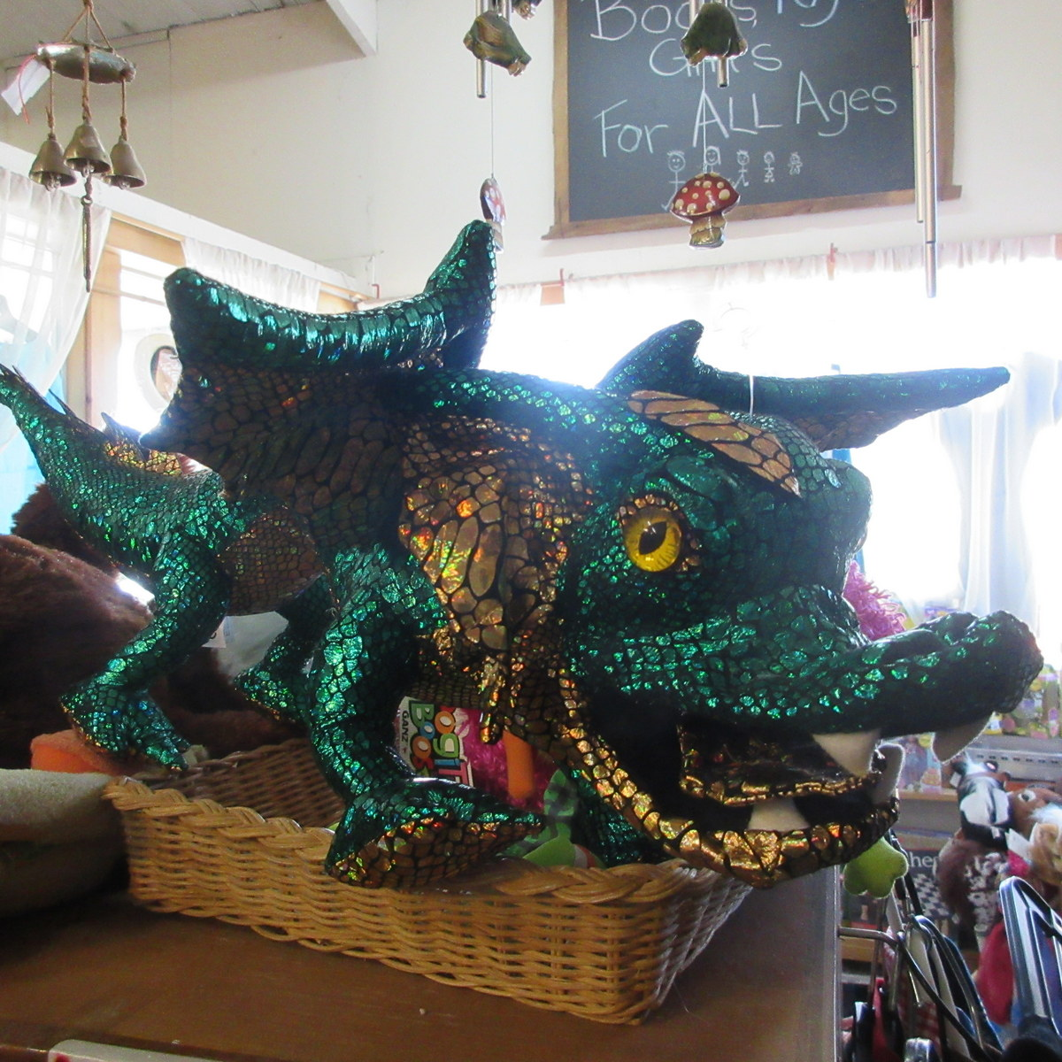 Green Dragon Puppet from The Puppet Company