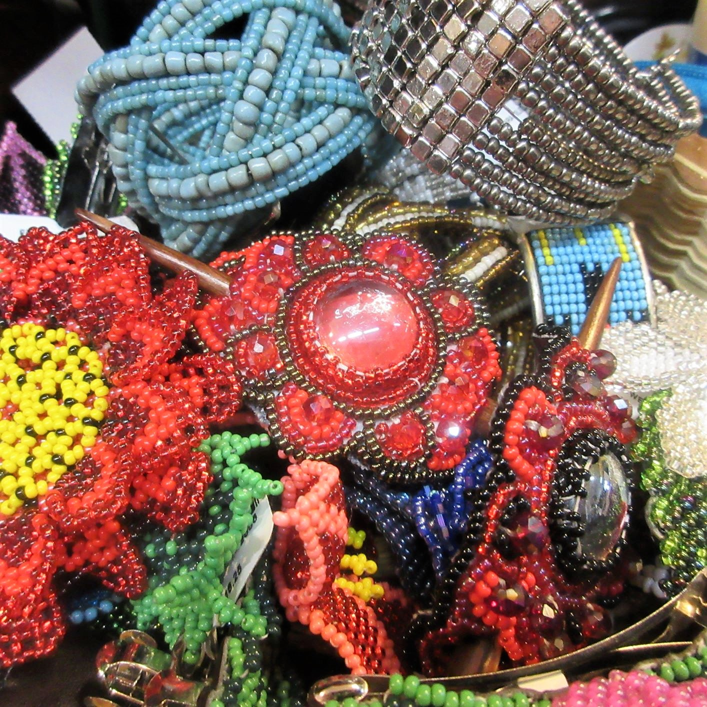 Hair Jewelry - If the words hair jewelry excite you, come and see our beautiful barrettes and hair sticks.
