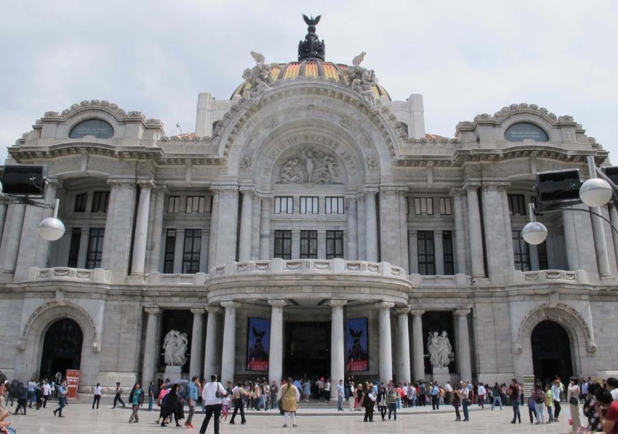The Palacio de Bellas Artes in the Centro Historico