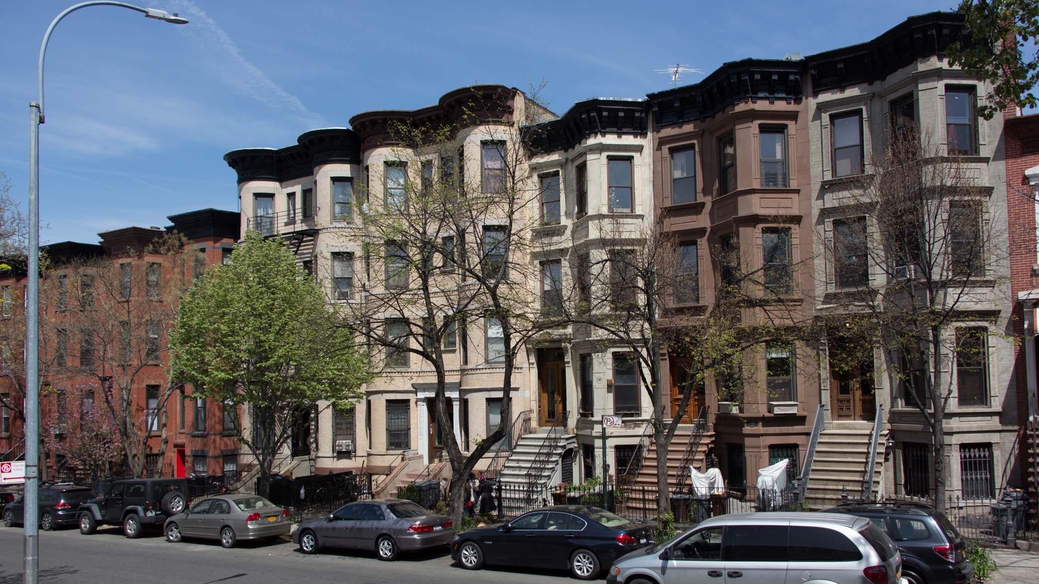 Brownstones in Park Slope, Brooklyn