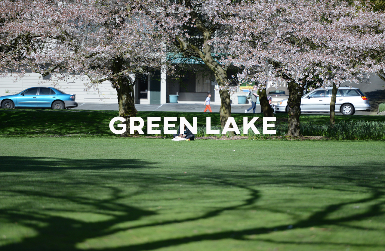 Green Lake - Two family friendly neighborhoods and a lake with a 2.8 miles circumference.