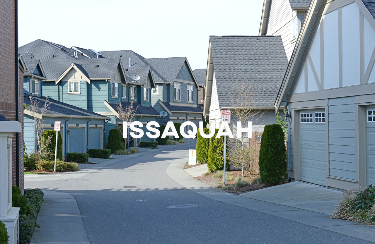 Issaquah - Close to Seattle with a historical downtown plus new housing developments.