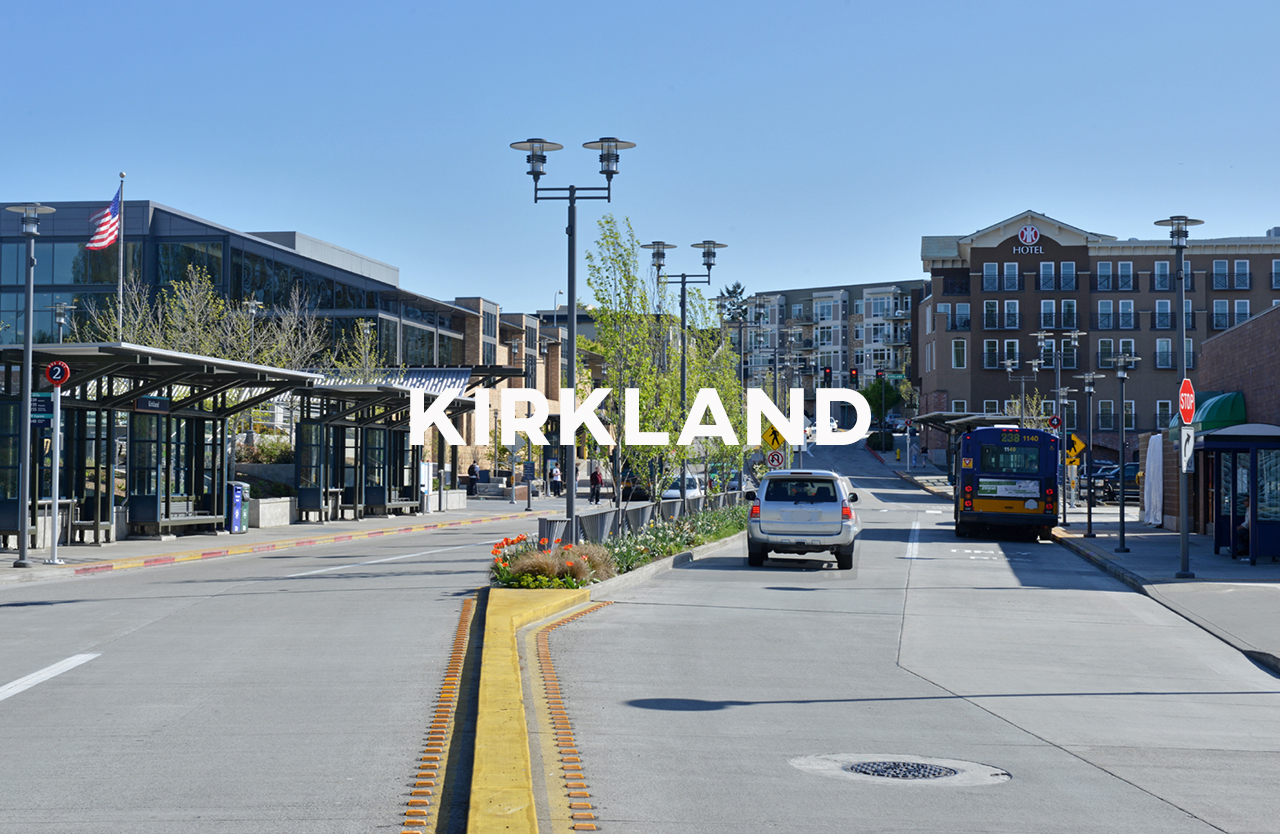 Kirkland - The Eastside of downtown includes public art and a laid back waterfront.