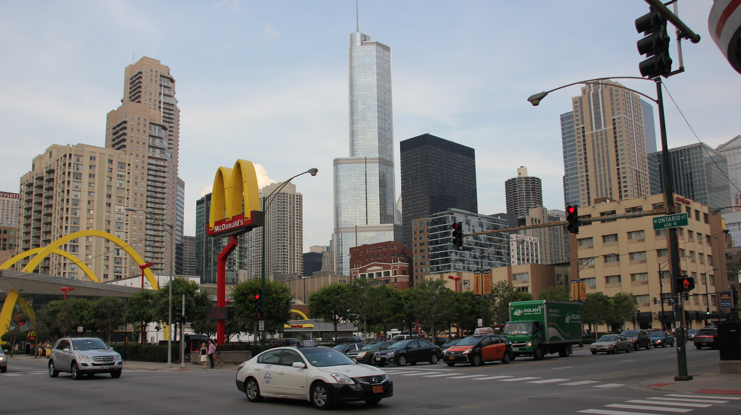 Busy intersections and modern high rises define River North.