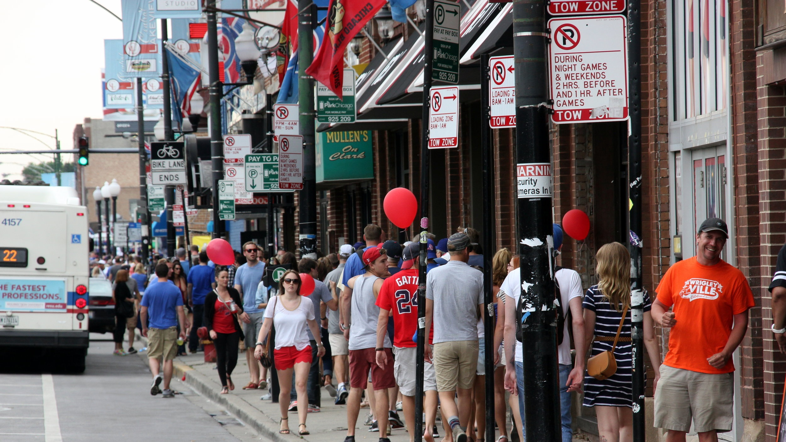 Known for its lively bar scene, there's always something going on in Lakeview - especially during Cubs games!