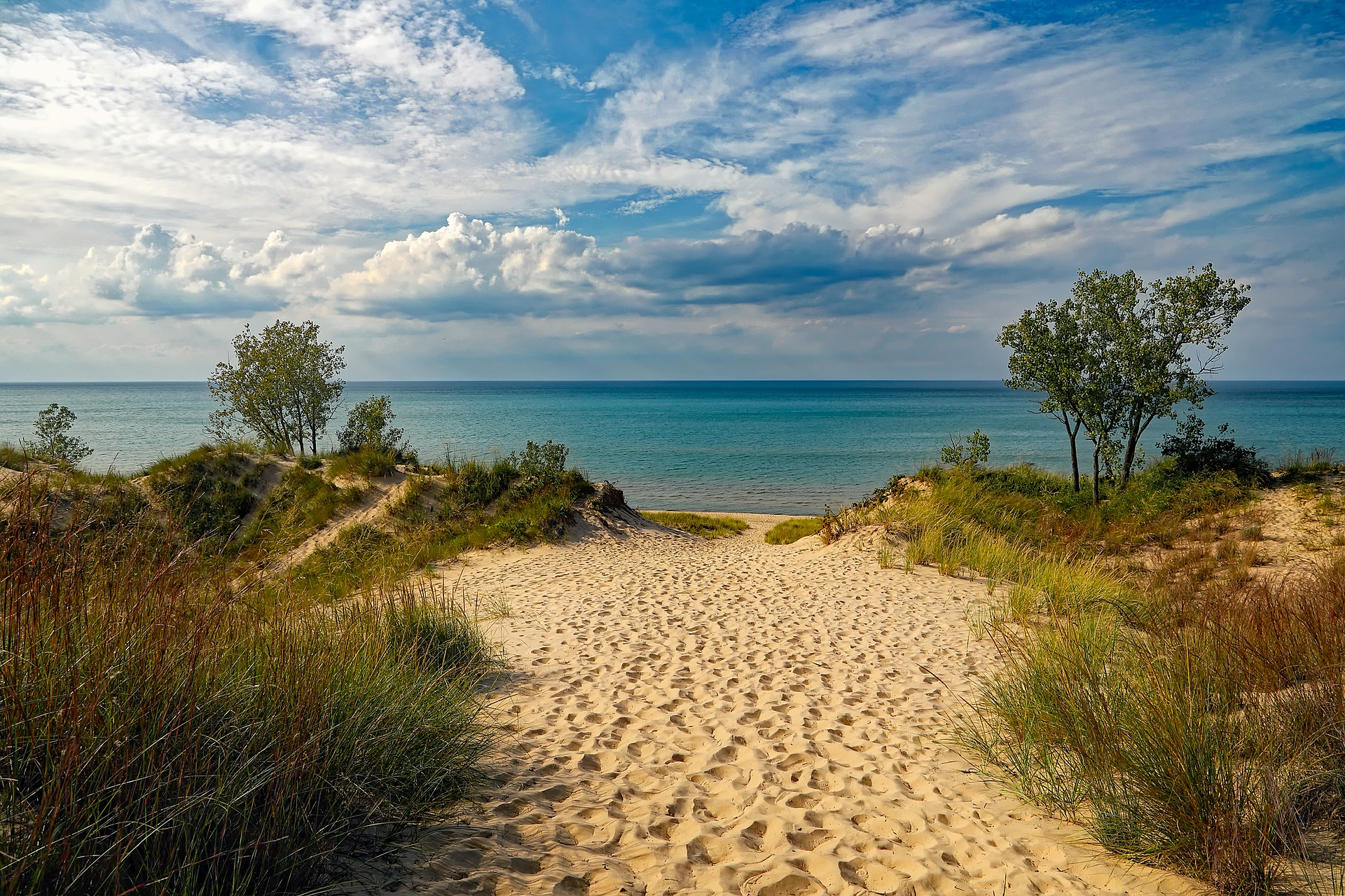 Take a dip in Lake Michigan at Indiana Dunes National Park