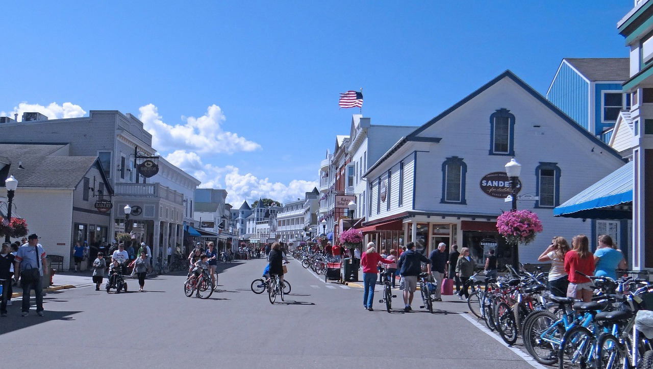Fun fact: cars aren't allowed on Mackinac Island