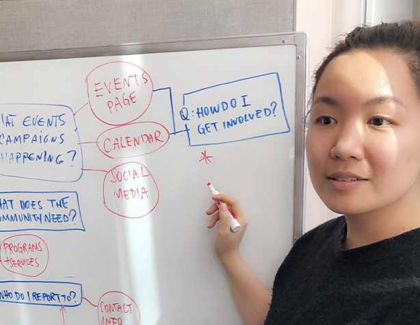 As the content strategist on the team, I led brainstorm sessions to create user journeys.