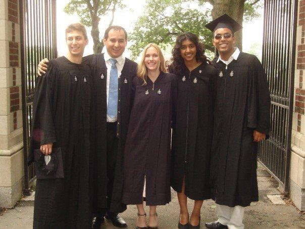 College graduation from Harvard in 2005
