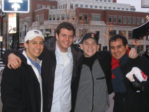 Visiting Harvard Square in 2006 with John, Dan & Camilo