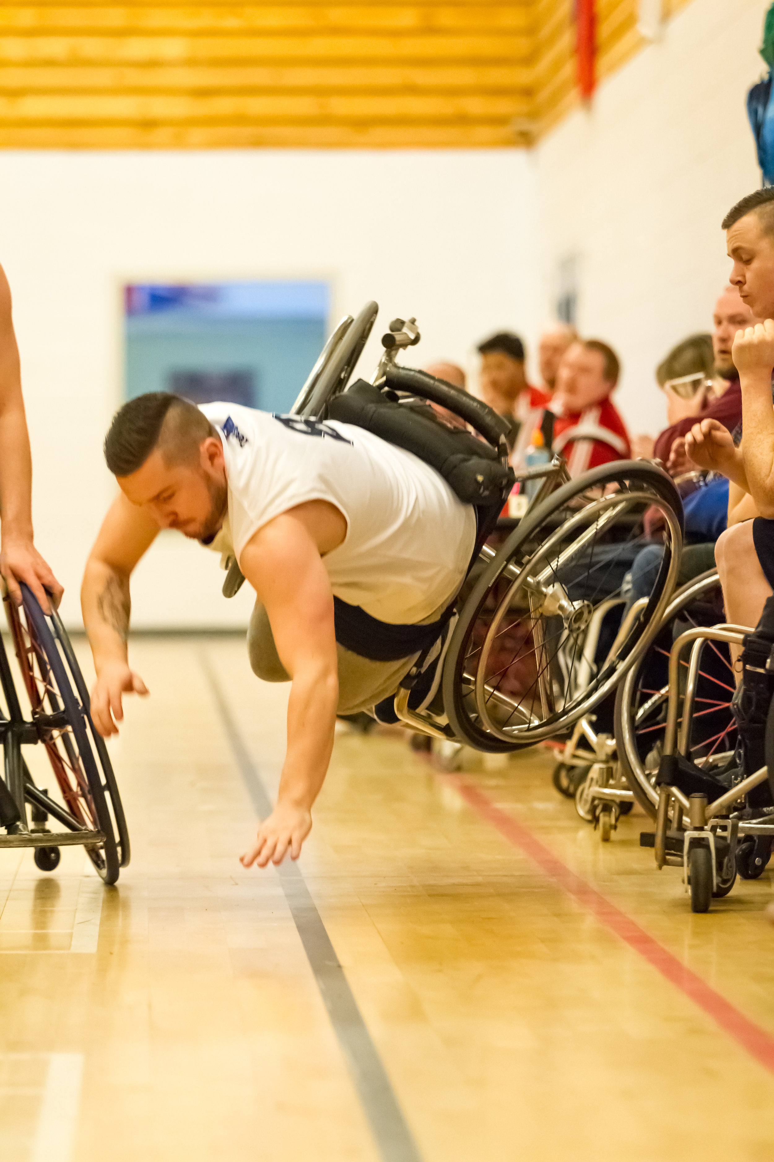 Wheelchair basketball is quite a ruthless sport