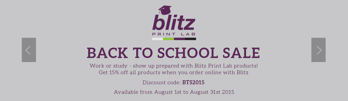 Blitz Print Lab Back to School Banner