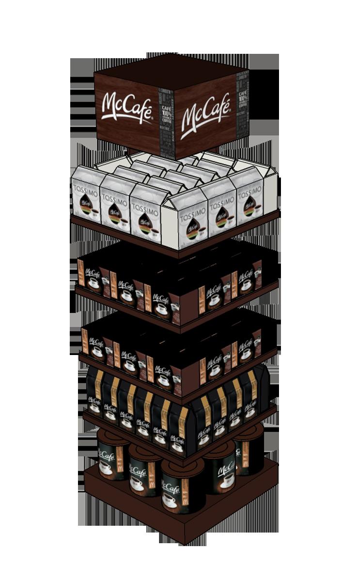 McCafe Merchandiser Model