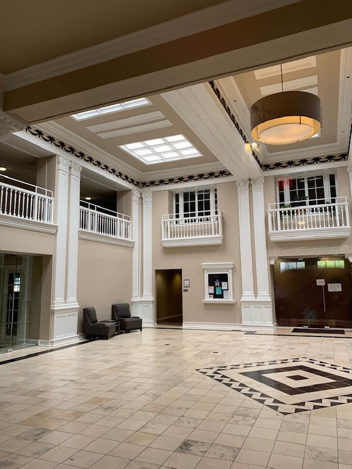 Lobby of the former Roberts Hotel.