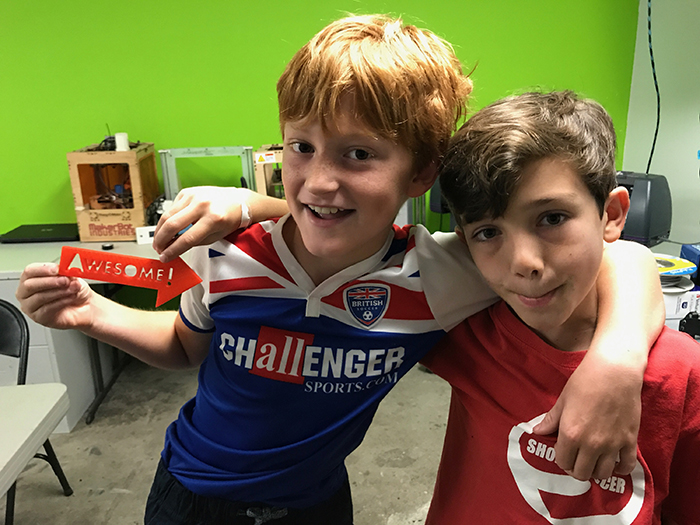 Grayson Brown and Beckett Neville pictured at the 757 Makerspace in Norfolk, VA