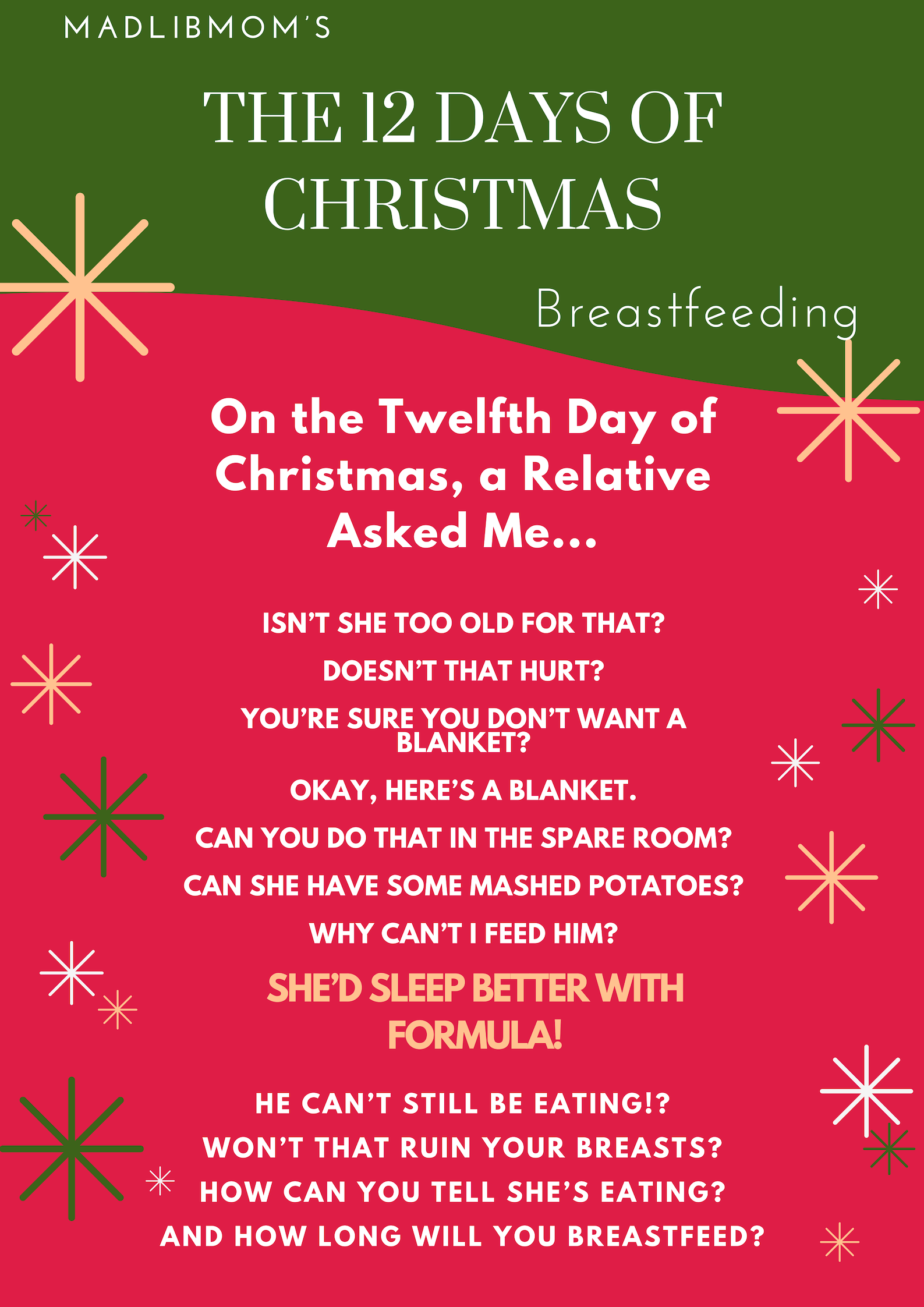 MadLibMom;s The 12 Days Of Christmas