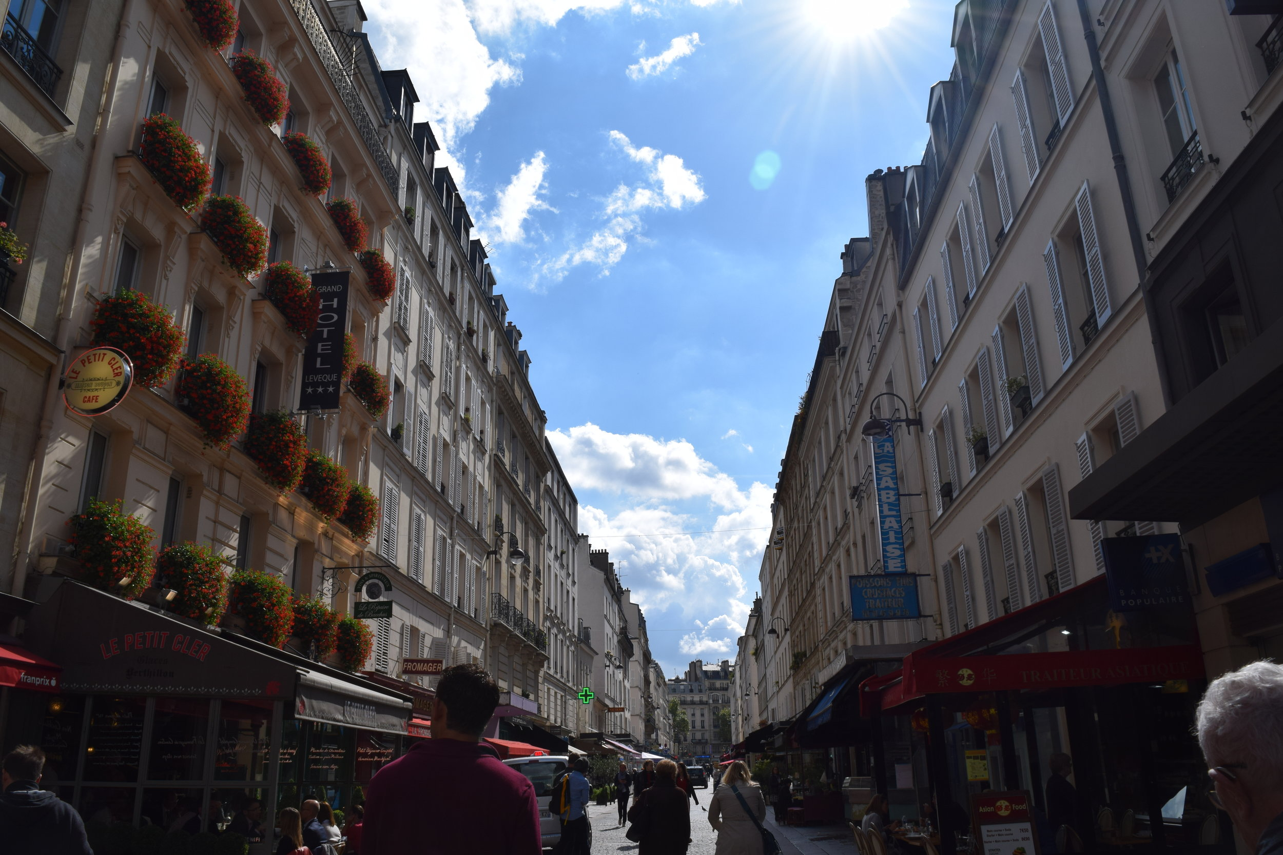 Lunch on Rue Cler, the famous market street