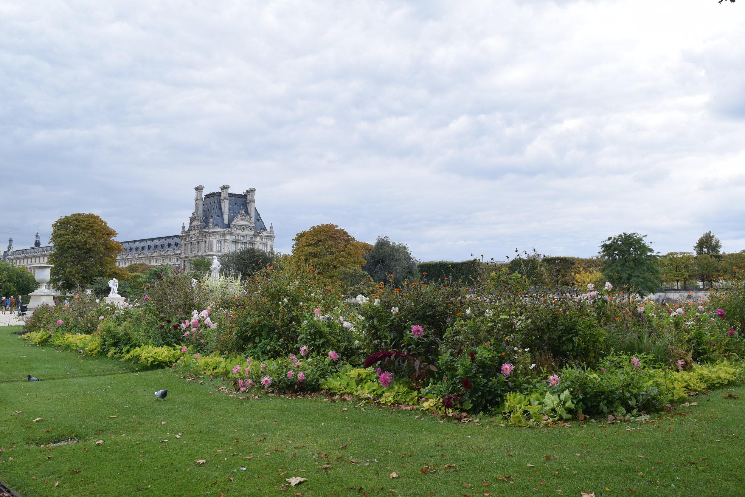 Relaxing in the Tuileries