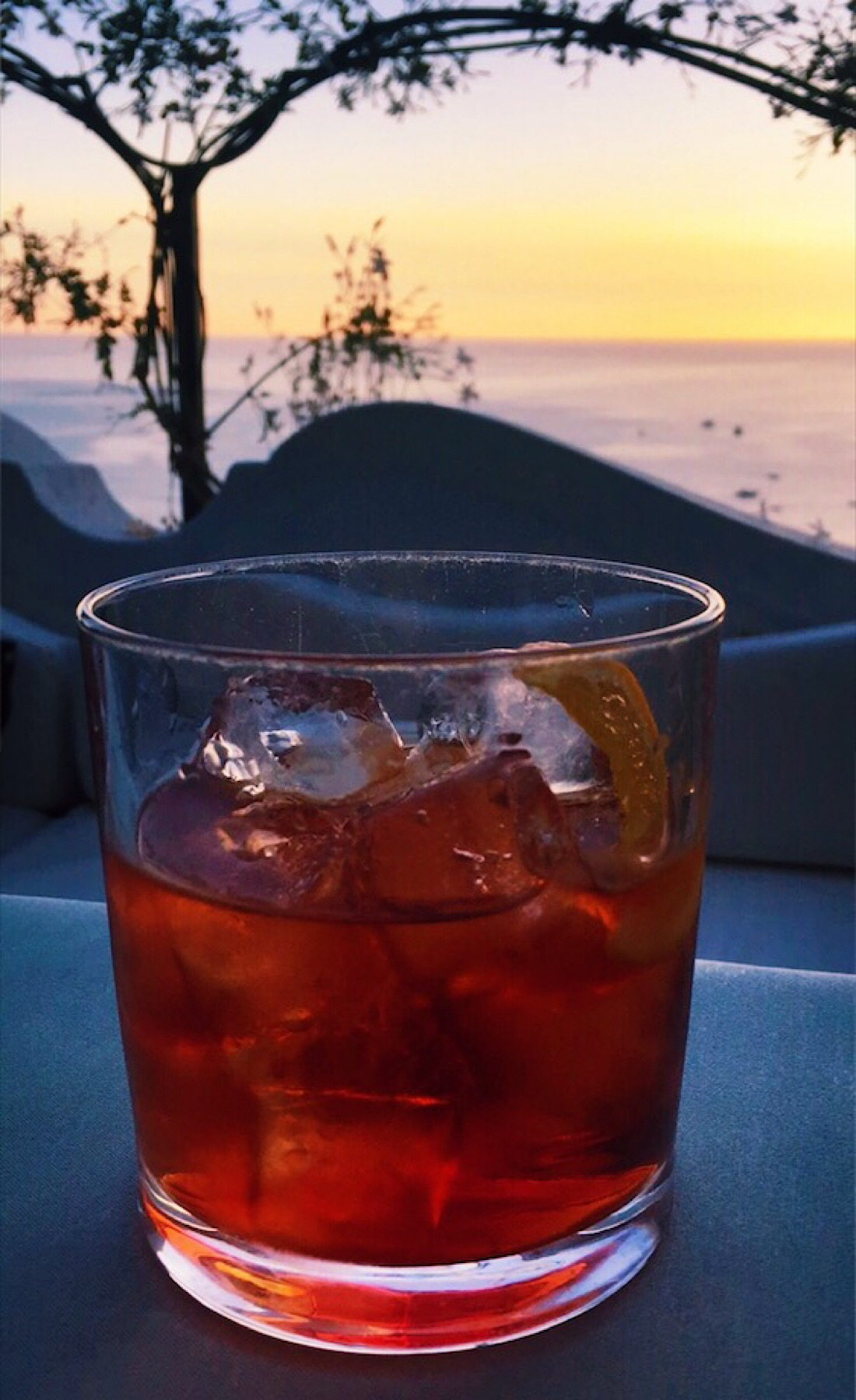 Sunset + Negroni