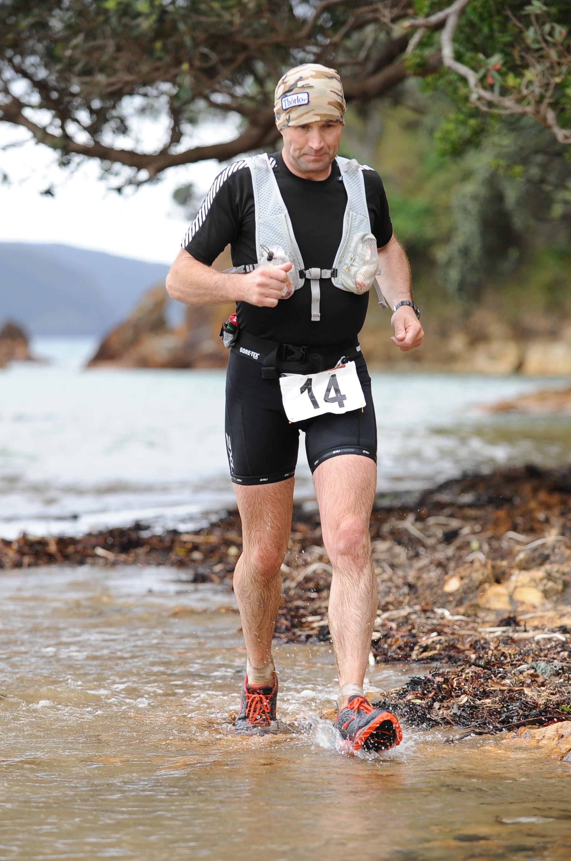 Russell Maylin running the Kauri Ultra Marathon.