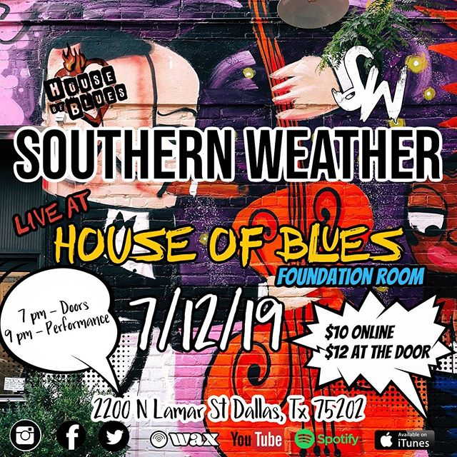 @southernweatherband #debut show at @hobdallas @foundationroomdallas #supportlocalmusic #showtime