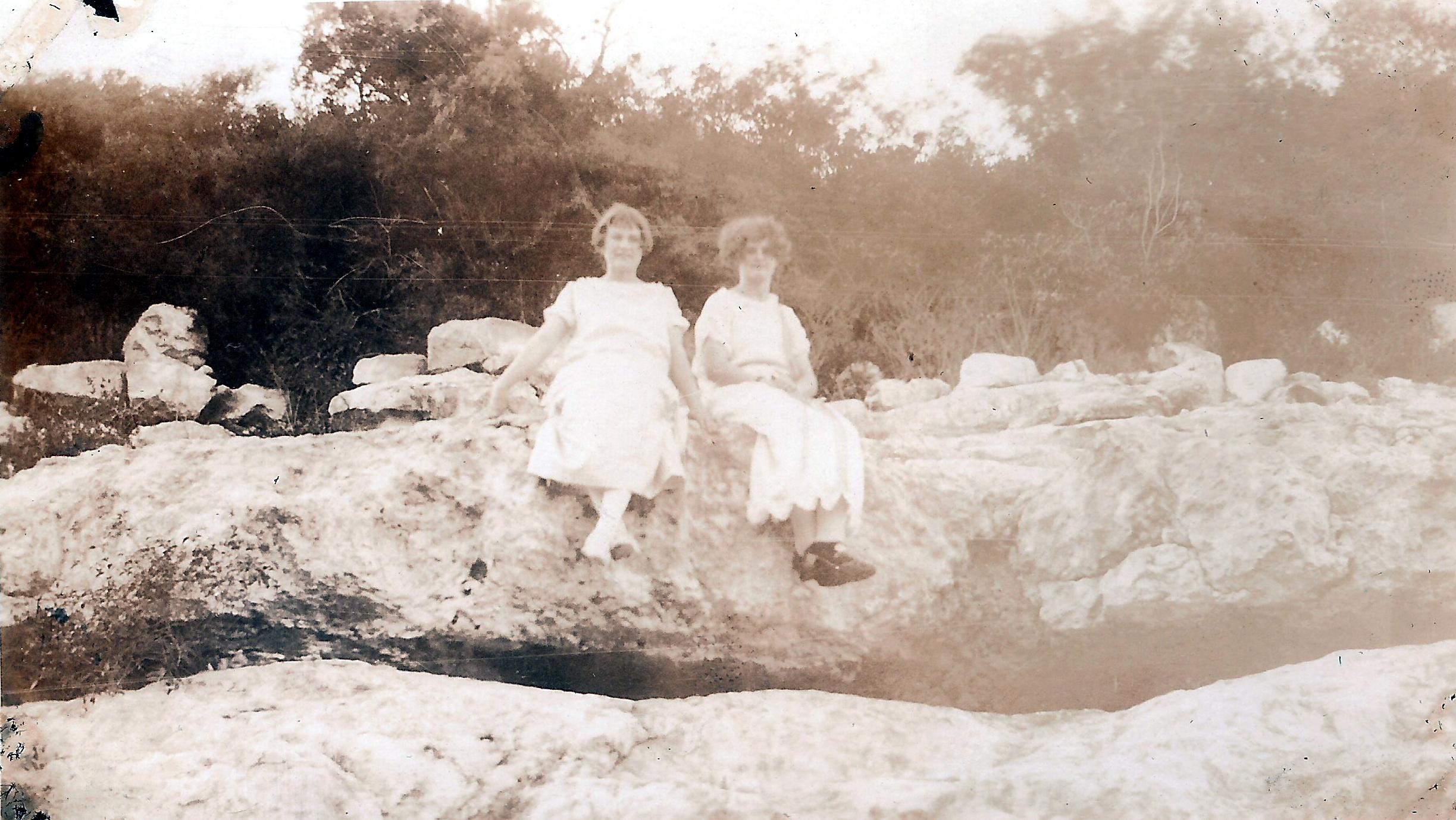 Clara Shilo-right-Lillian Krueger-left at Medina Lake.jpg