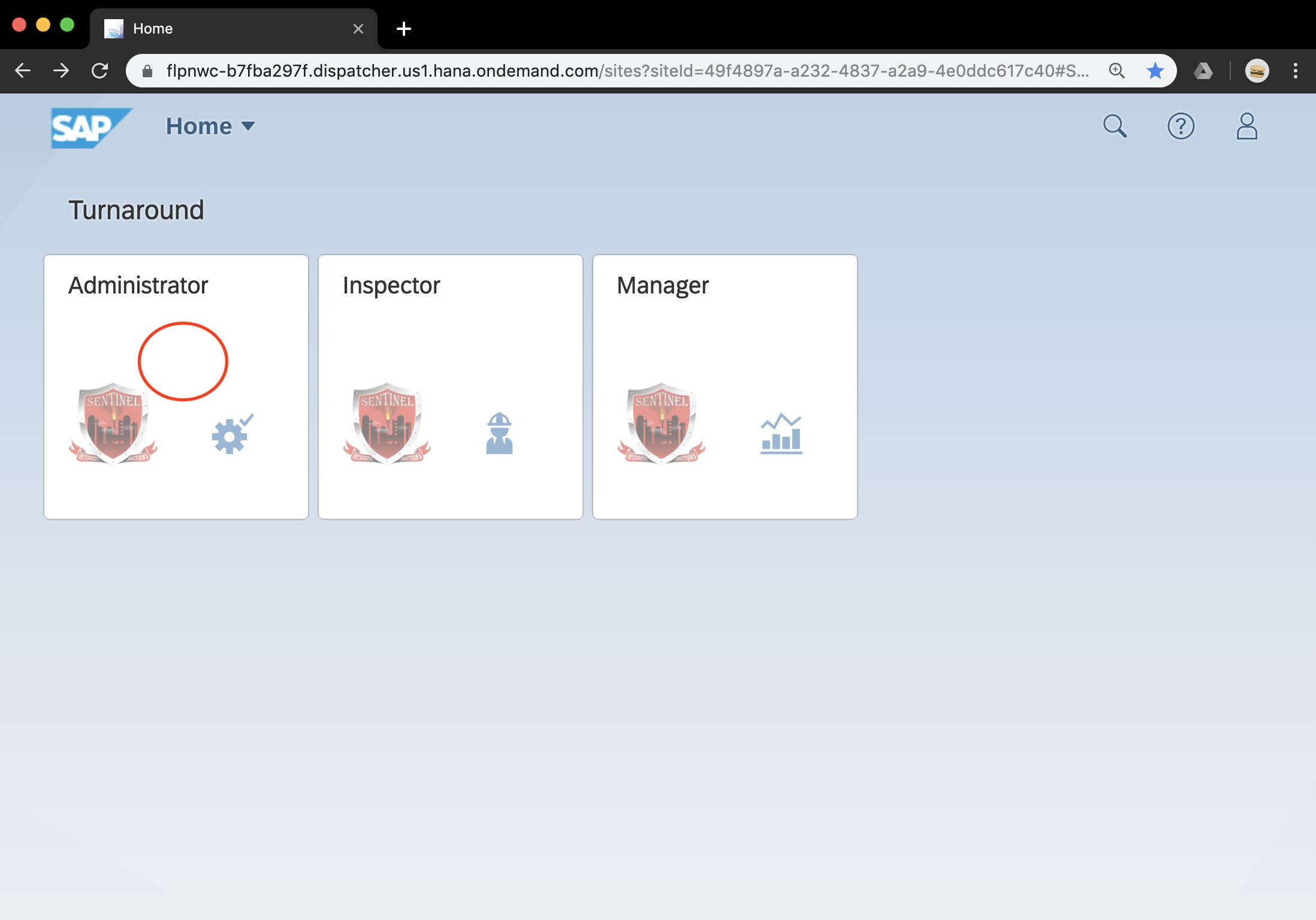 Select the Administrator Tile   You will need to be a Admin to an Organization to see this tile.