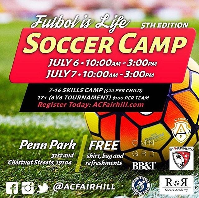 Check out @acfairhill soccer camp #Phillysoccer #citykids