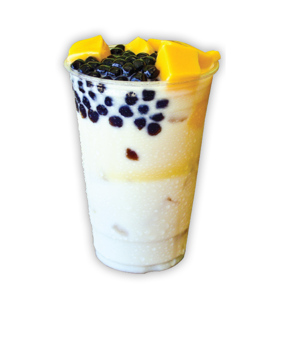 HorchadaCha Cha - A silky and light classic Mexican rice milk drink complemented with our Flan and Boba.