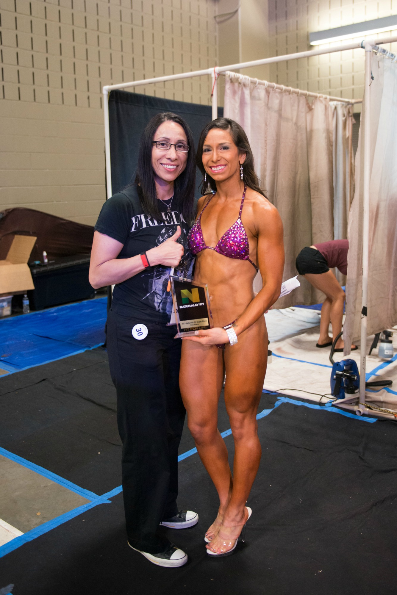 With my coach, Teri, 2013.
