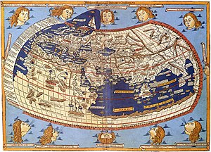 This is the Ptolemy map (~150 A.D.) that engaged Nicholas' learning.