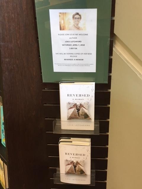 My book, Reversed: A Memoir, on sale at the Lubbock Barnes & Noble!