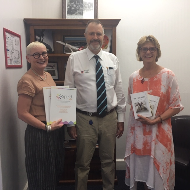 Mayor of Longreach with Marion McMahon SPELD