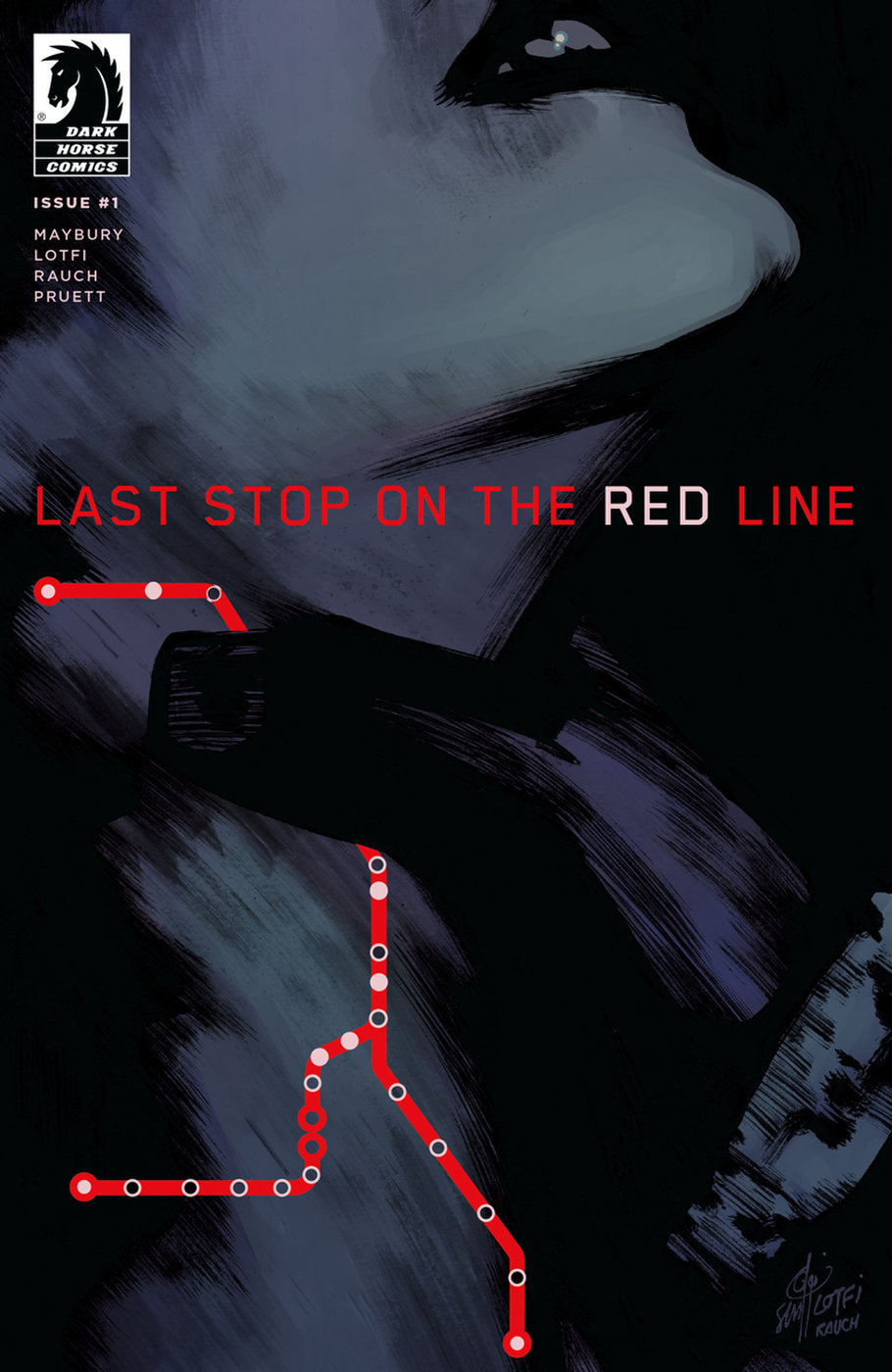 LAST STOP on the RED LINE Cover #1 - Dark Horse Comics