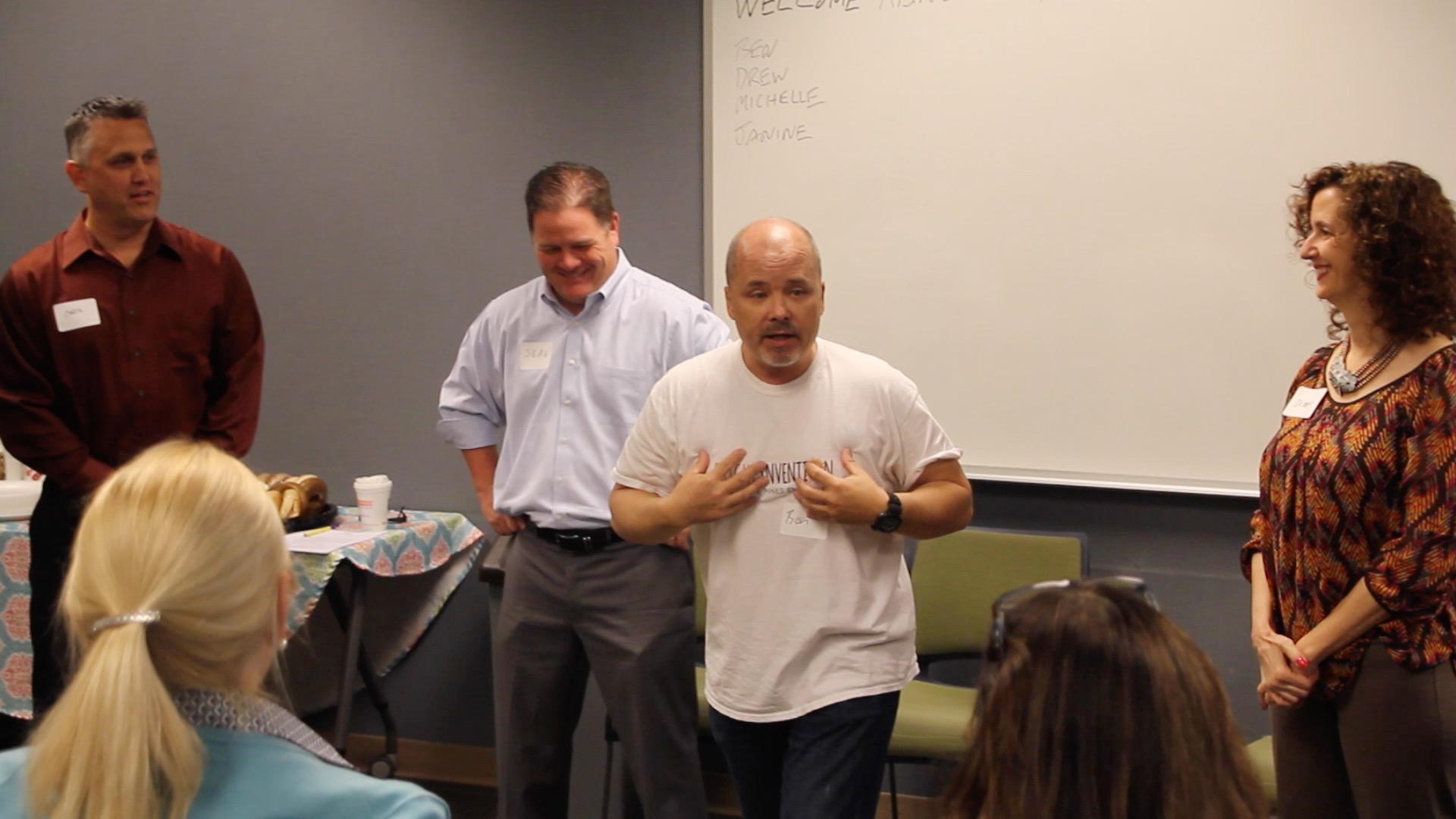 Benjamin Lloyd facilitates a training.