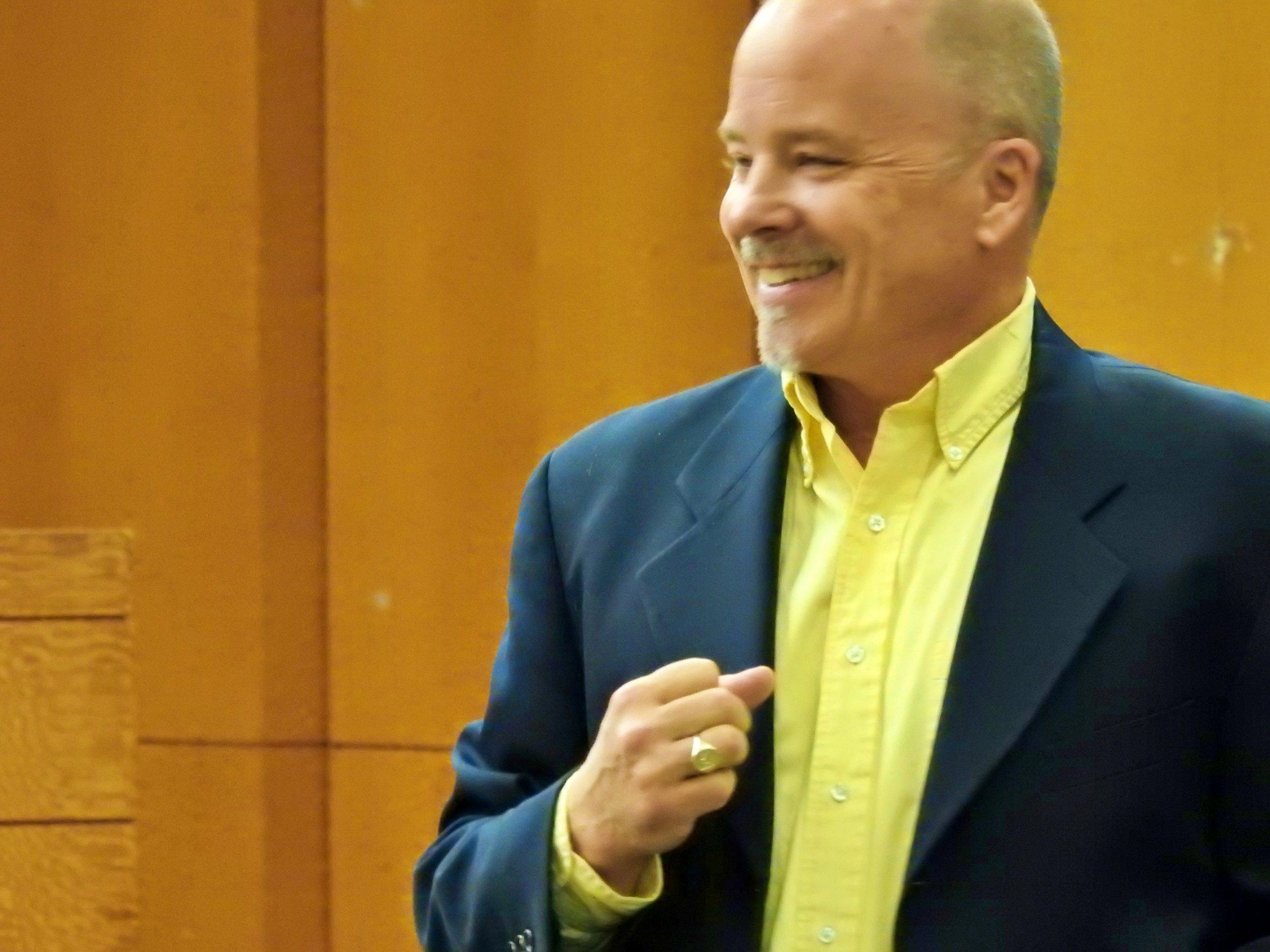 Benjamin Lloyd facilitates a workshop.