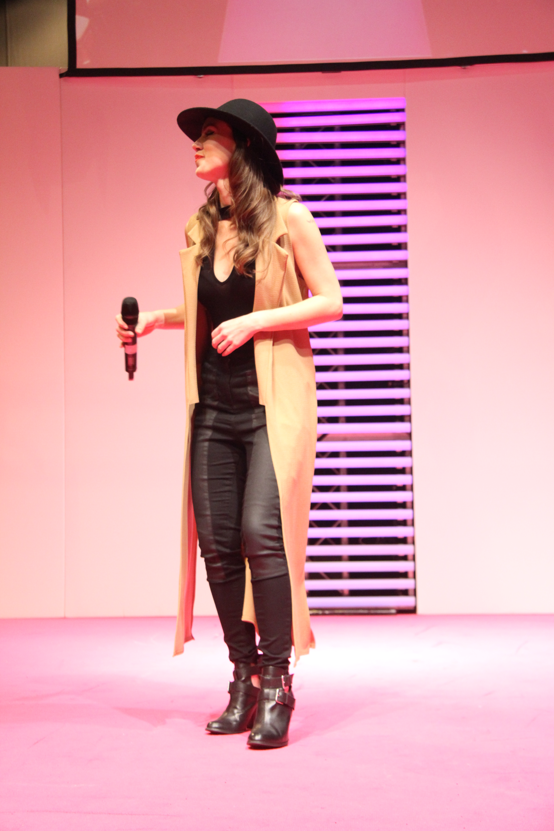 Claire Rossi performing at the SECC Glasgow
