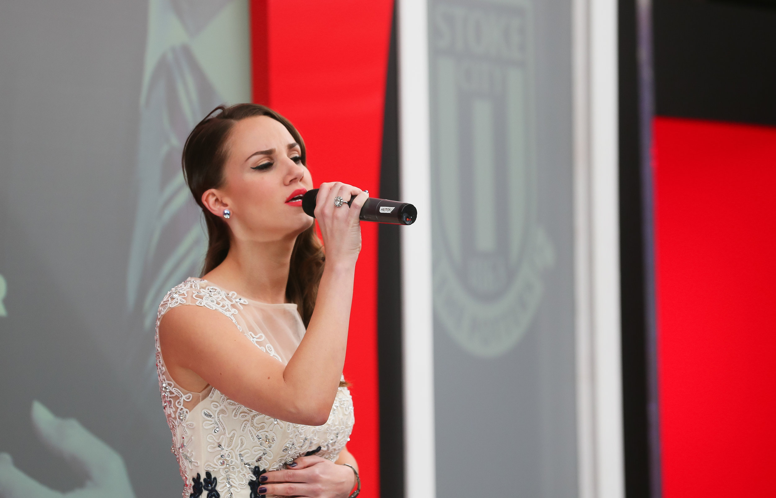 Performing for Stoke City FC