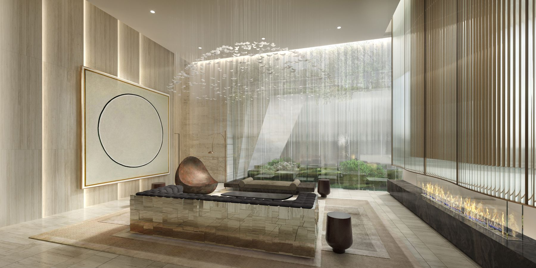 High Line Lobby Preview the Over-The-Top Amenities Coming to 15 Hudson Yards Related Companies Oxford Properties Rockwell Group Diller Scofidio + Renfro
