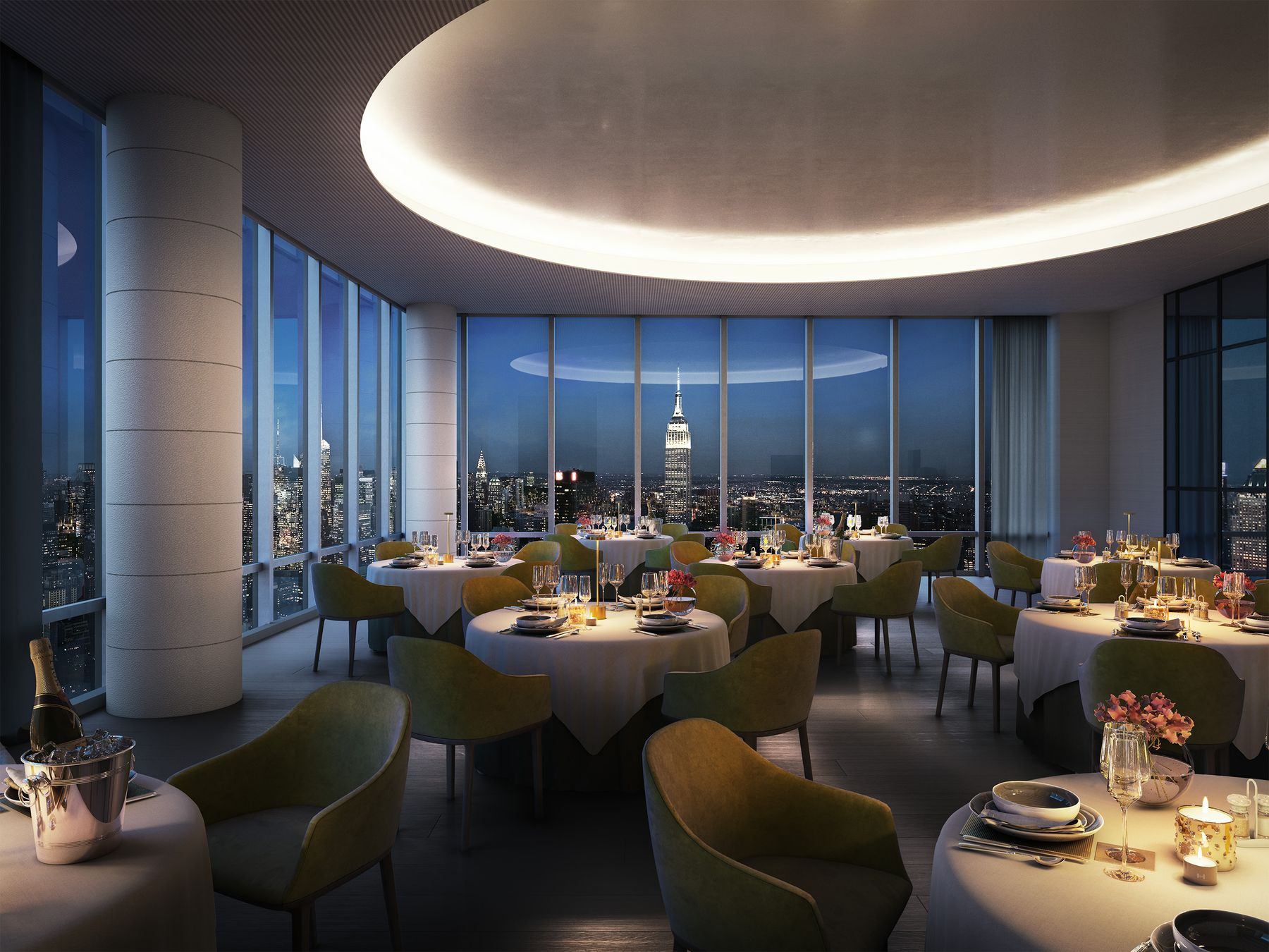 Private Dining Room Preview the Over-The-Top Amenities Coming to 15 Hudson Yards Related Companies Oxford Properties Rockwell Group Diller Scofidio + Renfro