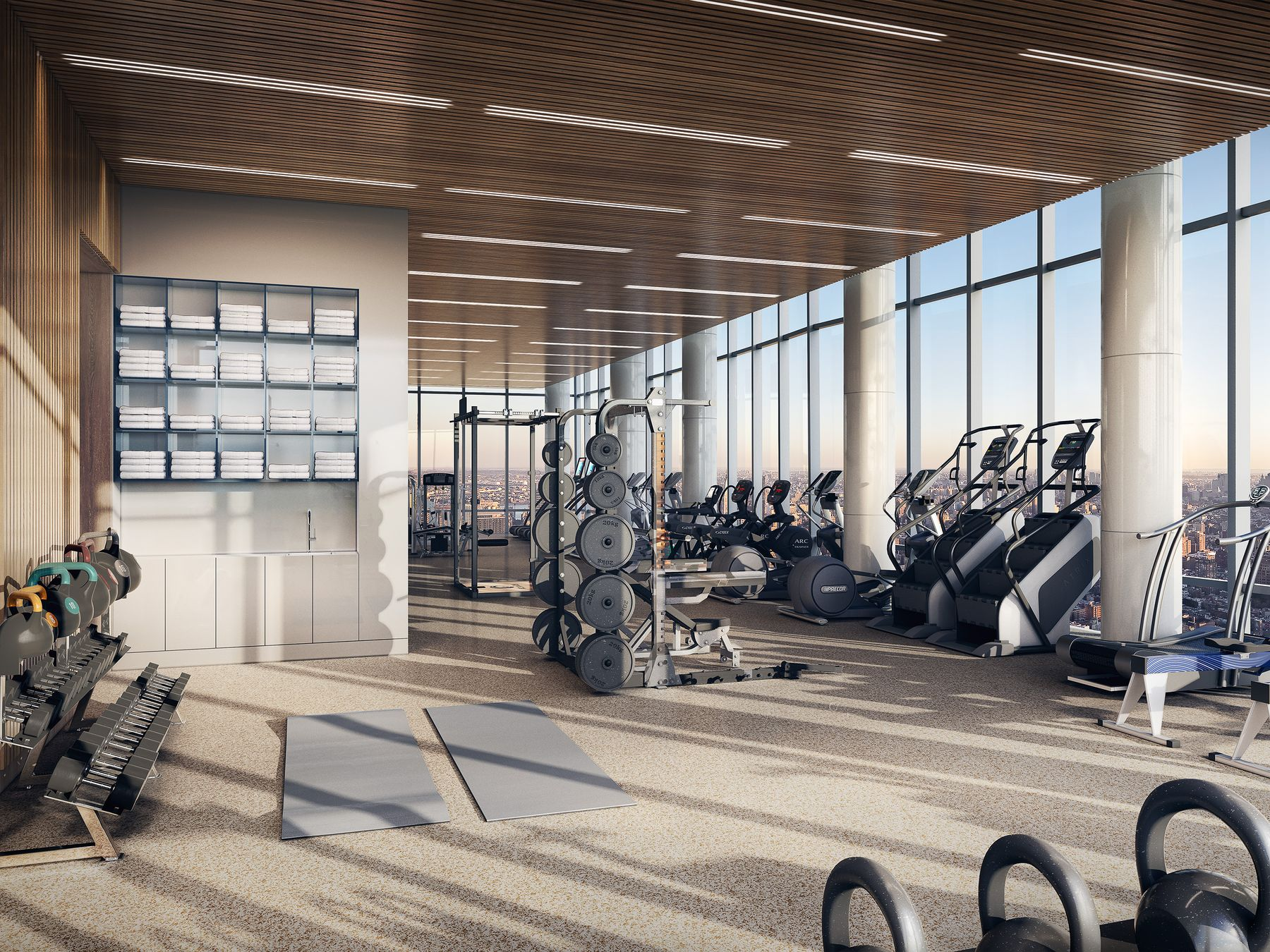 Fitness Center Preview the Over-The-Top Amenities Coming to 15 Hudson Yards Related Companies Oxford Properties Rockwell Group Diller Scofidio + Renfro