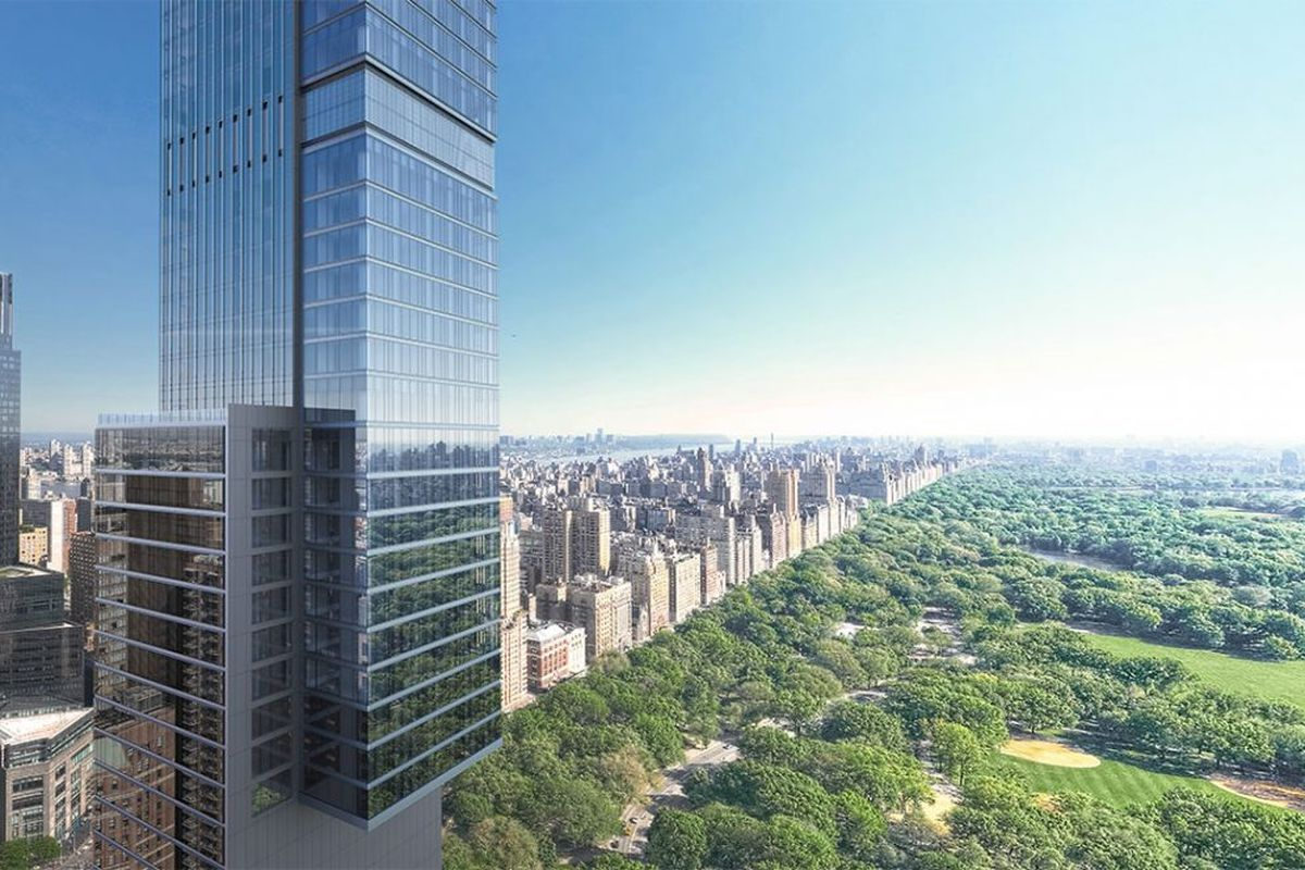 Extell Central Park Tower Now On Rise on Billionaires' Row, Completion Estimated 2019
