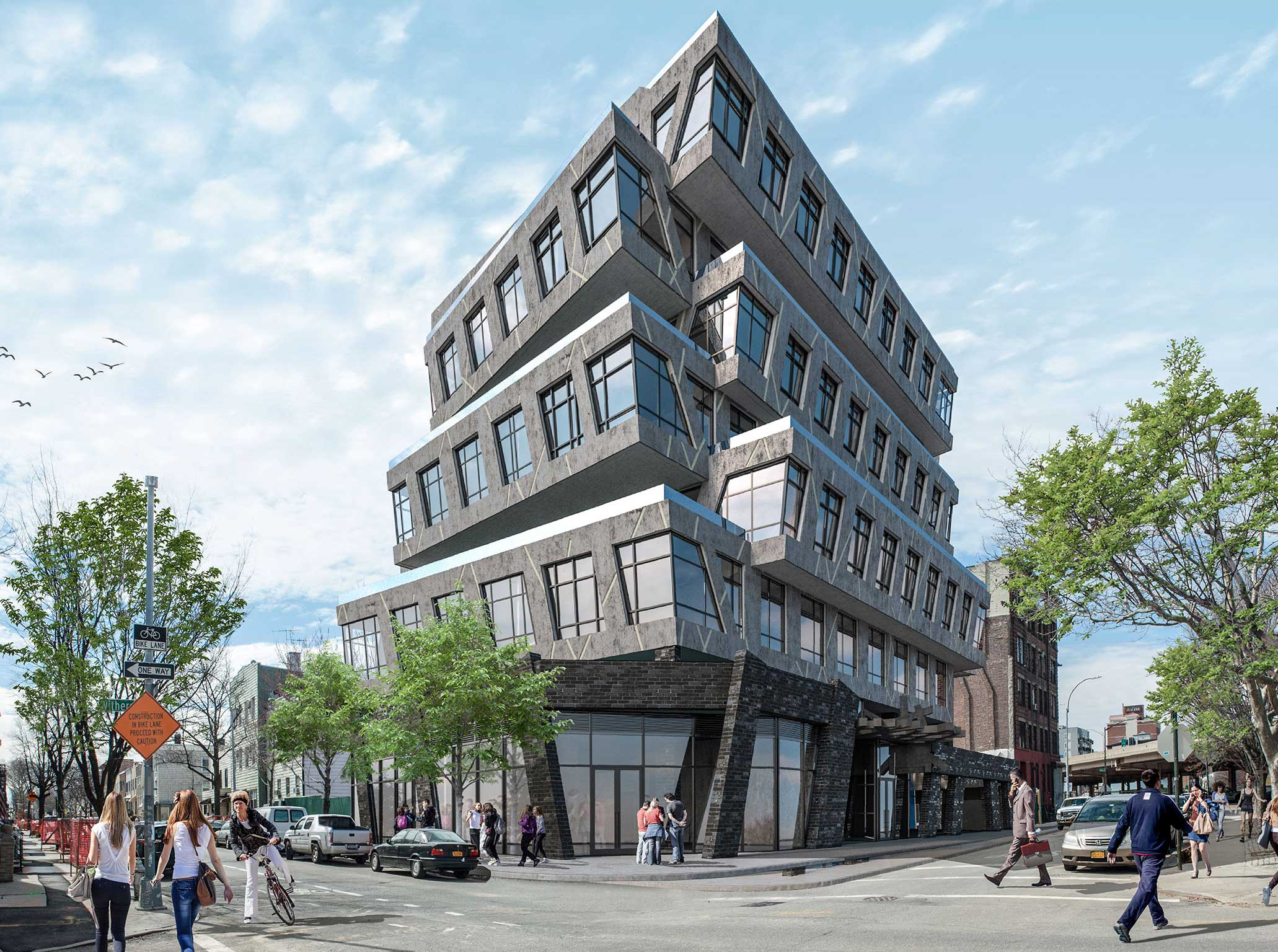 New Renderings Unveiled of Contemporary Mixed-Use Project, Element88, in Williamsburg