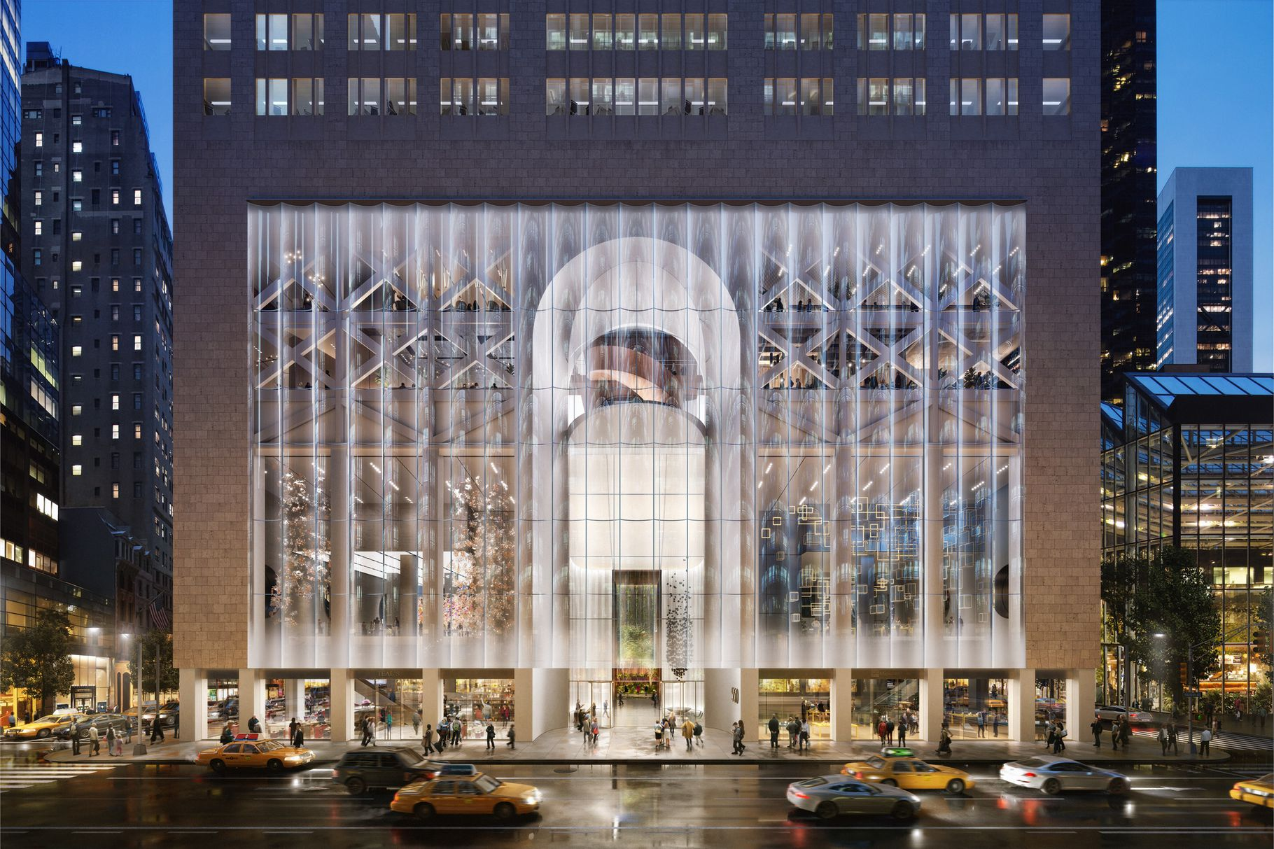 Check-Out the Snøhetta-Designed Contemporary Proposal To Revamp to 550 Madison Avenue