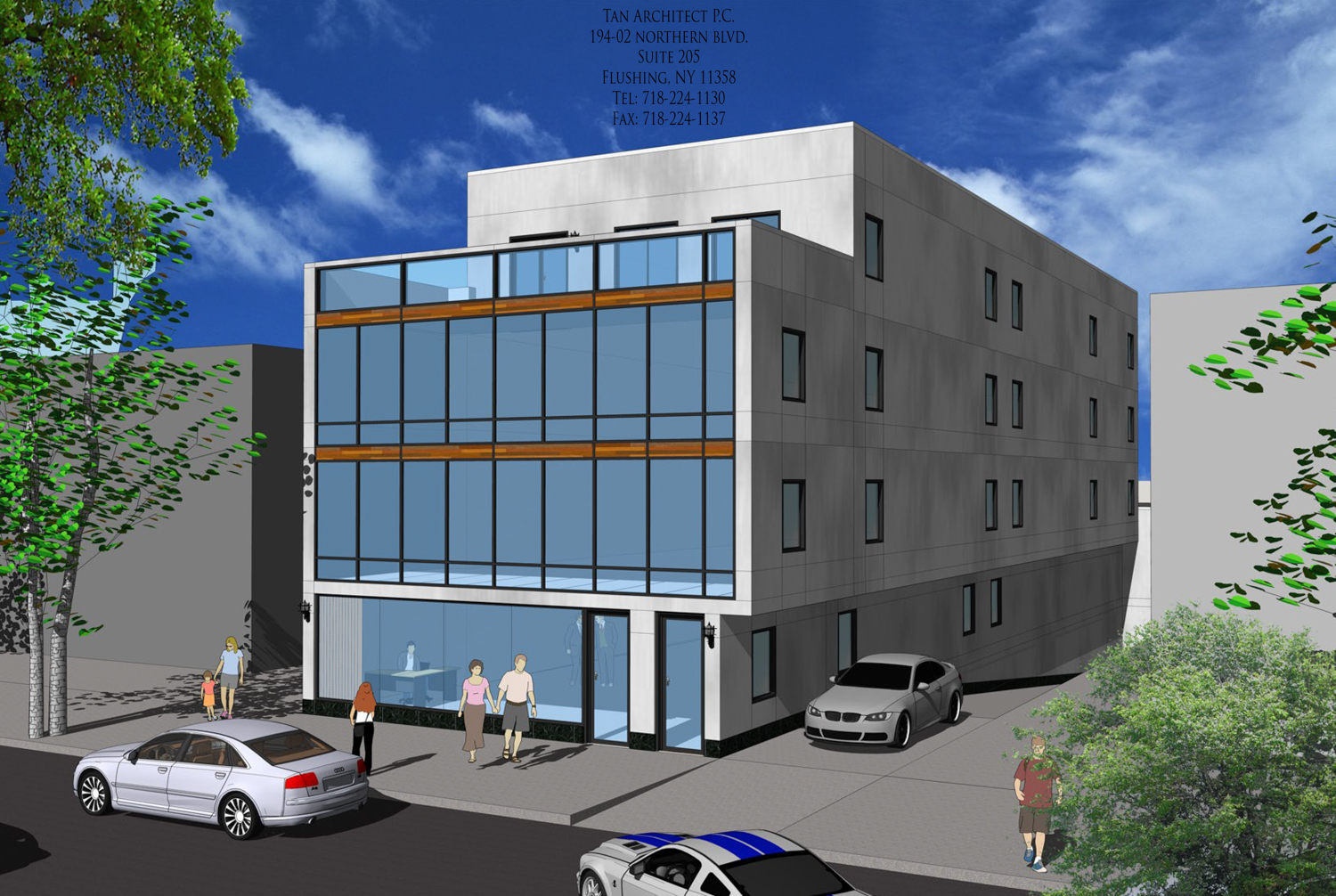 Tan Architects Reveals Their Design For 147-12 Roosevelt Avenue In Murray Hill, Queens