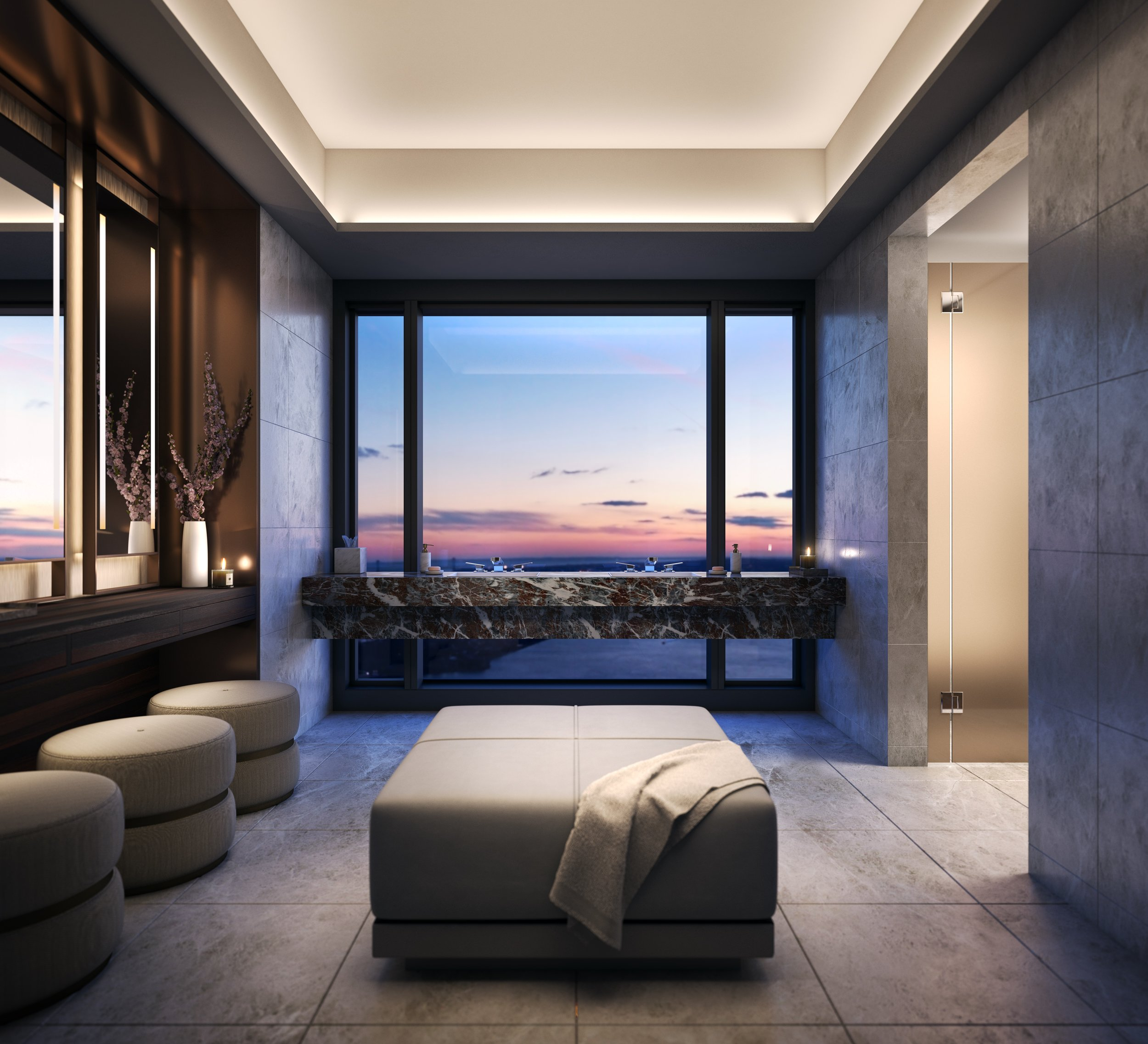 Explore The Newly Revealed Amenities At The Rafael Viñoly-Designed 125 Greenwich Street