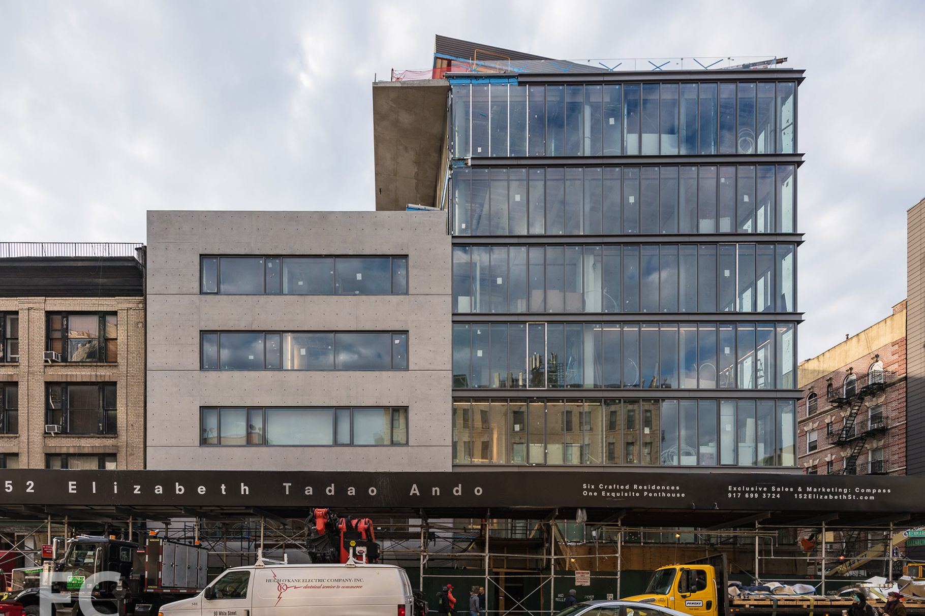Construction Update: Tadao Ando's Luxurious 152 Elizabeth Street Reveals Its façade As Scaffolding Comes Down